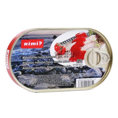 Makreles filejas Rimi tomātu mērcē 170g
