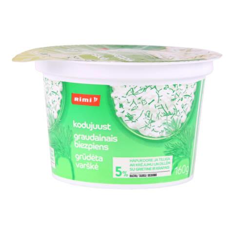 Varškės grūdeliai su krapais RIMI, 5 %, 160 g
