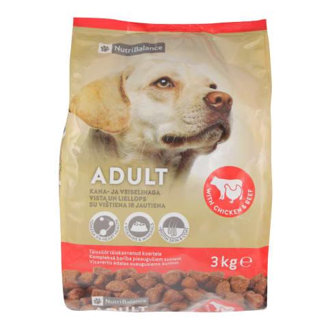 Suņu barība NutriBalance vista, liellopu 3kg