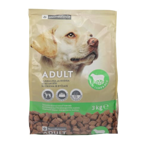 Suņu barība NutriBalance ar jēru,rīsiem 3kg