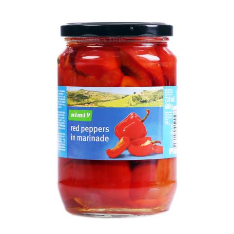 Paprika punane marinaadis Rimi 680g/350g
