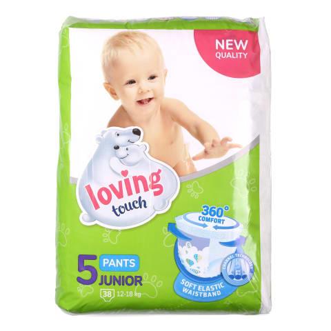 Biksītes Loving Touch 5 Junior 12-18kg 38gab.