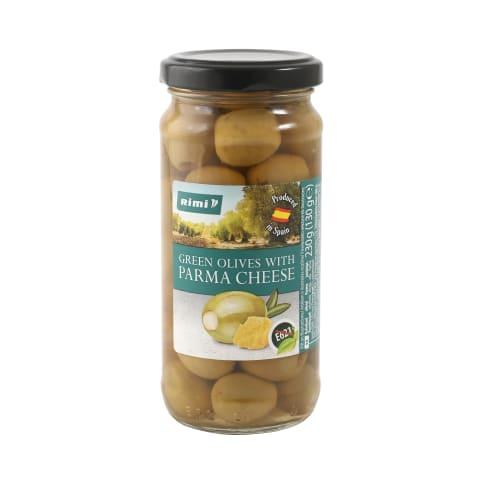 Rohelised oliivid Rimi Parma juustuga 230g