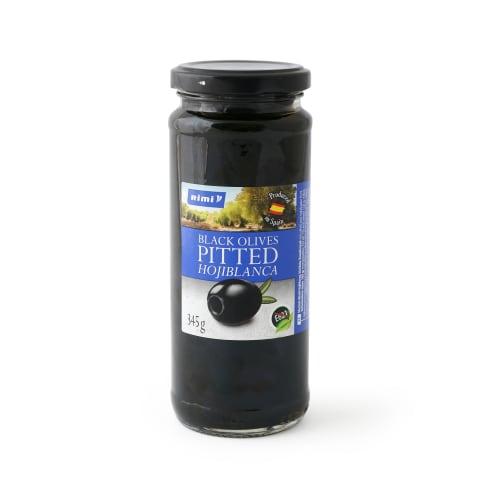 Melnās olīvas Rimi bez kauliņiem 345g/160g