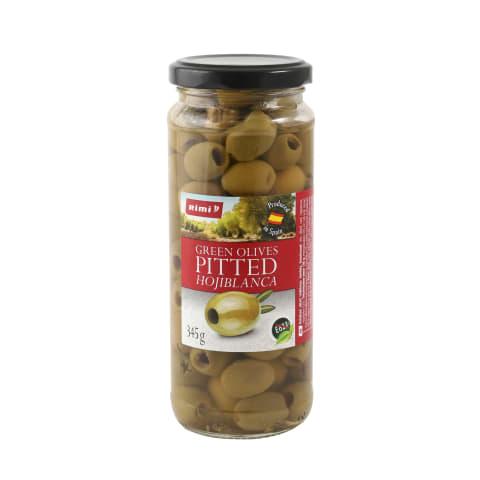 Zaļās olīvas Rimi bez kauliņiem 345g/160g