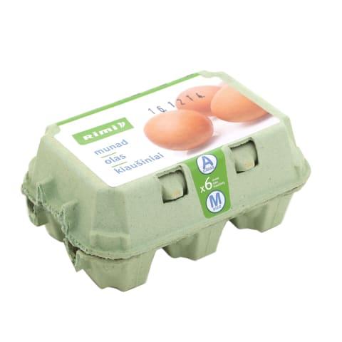 Kiaušiniai RIMI, A klasė, M dydis, 6 vnt