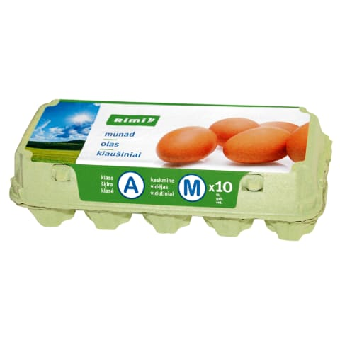 Kiaušiniai RIMI, A kl., M dydis, 10 vnt