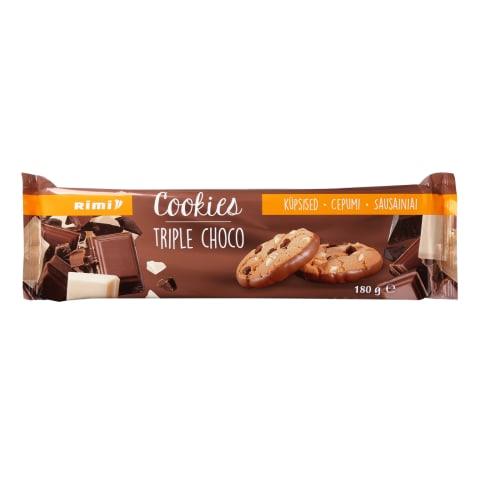 Sausainiai pien.juod.balt. šokoladu RIMI, 180