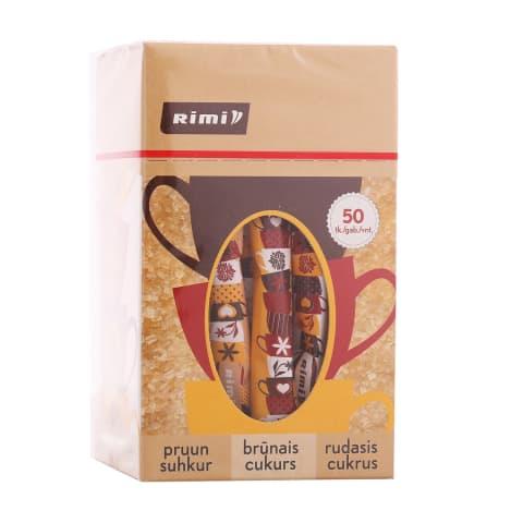 Rudasis cukrus RIMI, 50 vnt × 3 g, 150 g