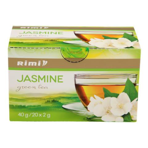 Zaļā tēja Rimi ar jasmīna ziediem 20x2g