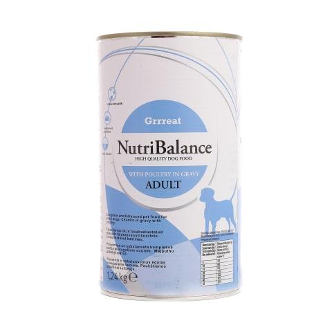 Suņu konservi NutriBalance vistas 1,24kg