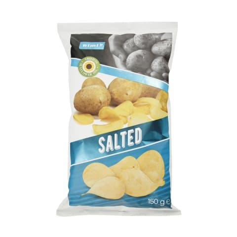 Sūdyti bulvių traškučiai RIMI, 150 g
