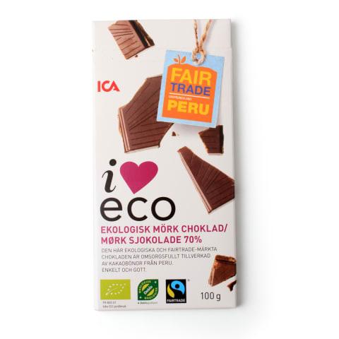 Tumšā šokolāde I Love Eco 70% 100g