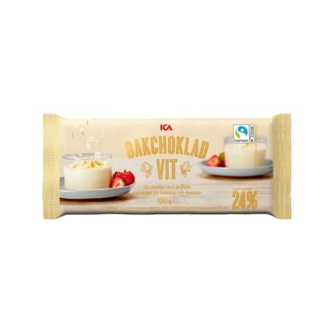 Baltā šokolāde cepšanai ICA 100g