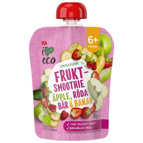 Püree I Love Eco õun-banaan-maasikas 90g