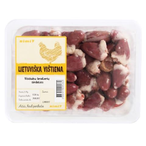 Viščiukų broilerių širdelės RIMI, A, 1kg