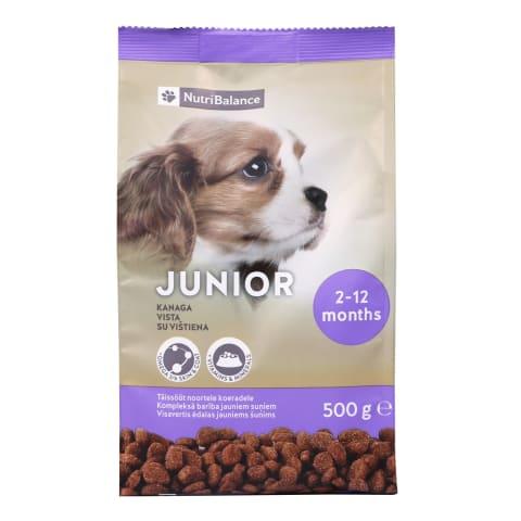 Saus.šunų ėdal.NUTRIBALANCE JUNIOR,0,5kg