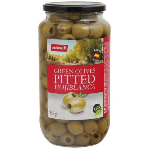 Rohelised oliivid Rimi kivideta 935g/455g
