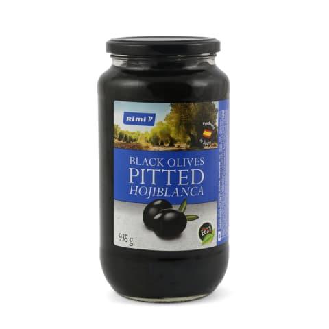 Mustad oliivid Rimi kivideta 935g/455g