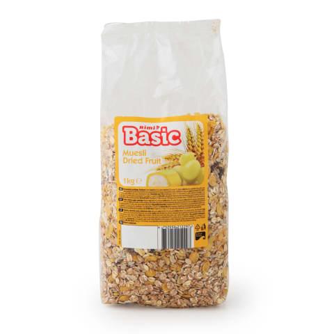 Musli Rimi Basic ar žāvētiem augļiem 1kg