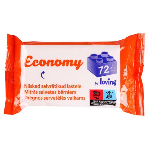 Niisk. salvrätikud LT Economy,72tk