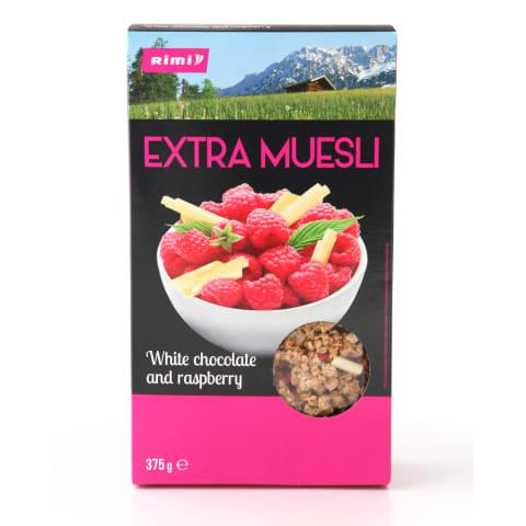 Musli Rimi Extra White Choco and Raspb. 375g