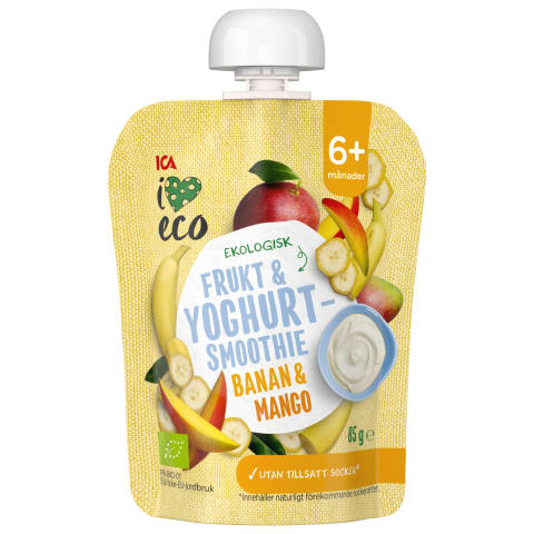 Ban.mang.jogurt. tyrelė I LOVE ECO 6mėn., 85g