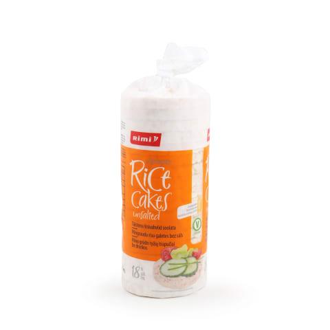 Rīsu galetes Rimi bez sāls 90g