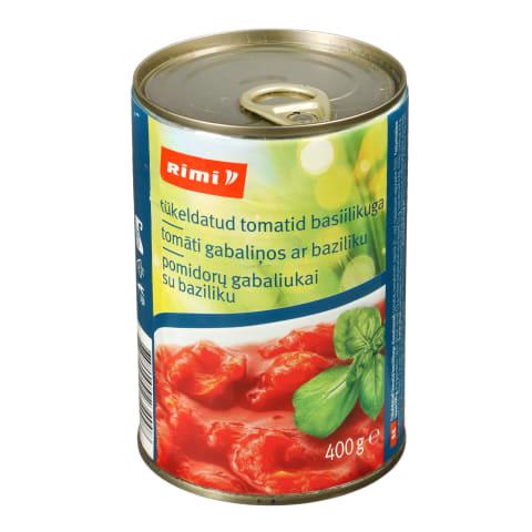 Tomatid tükeldatud basiilikuga Rimi 400g