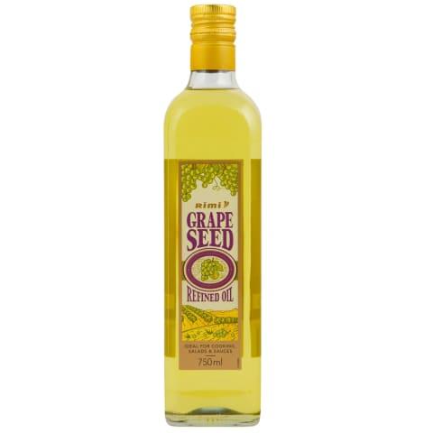 Vīnogu kauliņu eļļa Rimi rafinēta 750ml
