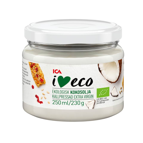 Kokosų aliejus I LOVE ECO, 250ml