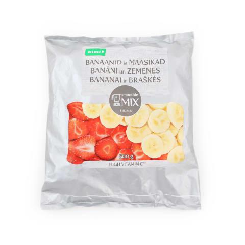Banāni un zemenes Rimi saldēti 500g