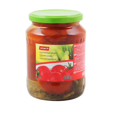 Tomatid Rimi marineeritud 660g/360g