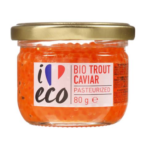Ekologiški upėtakių ikrai I LOVE ECO, 80 g