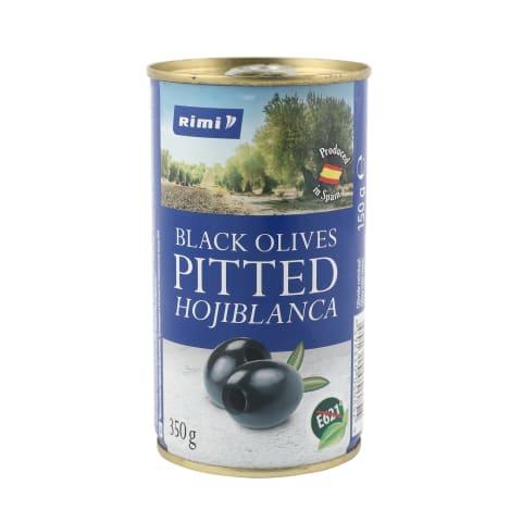 Melnās olīvas Rimi bez kauliņiem 350g/150g
