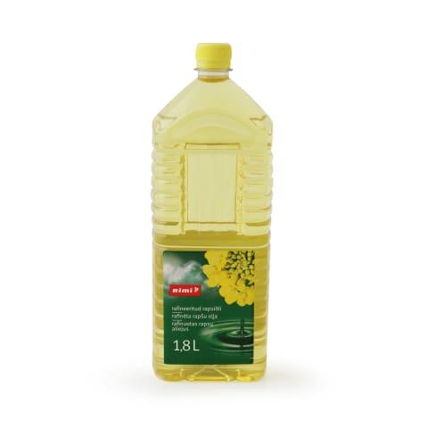 Rapšu eļļa Rimi rafinēta 1,8l