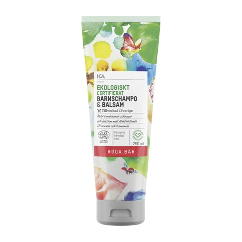 Šampoon-palsam ICA Eko lastele 250ml