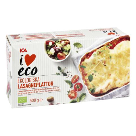 Lazanijos lakštai I LOVE ECO, 500 g