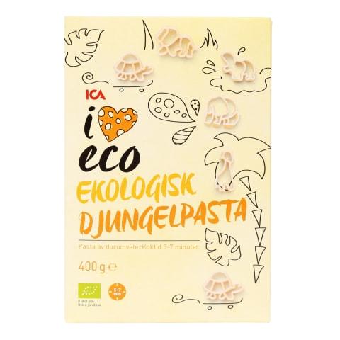 Ekologiški makaronai I LOVE ECO JUNGLE, 400g