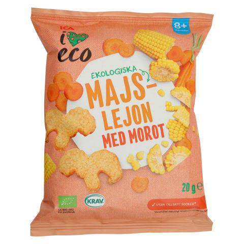Ekoloģ. kukurūza I Love Eco ar burkāniem 20g
