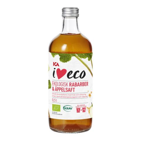 Siirup I Love Eco rabarberi - õuna 0,5l