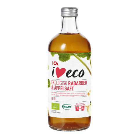 Sīrups I Love Eco rabarberu, ābolu 0,5l