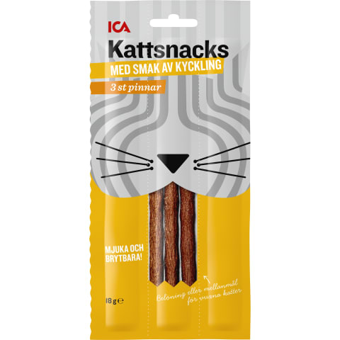 Užkandis katėms ICA višt. skonio, 18 g