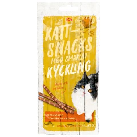 Uzkodas kaķiem ICA ar vistas gaļu 18g