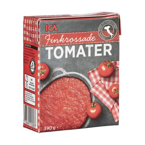 Smulkiai pjaustyti pomidorai ICA, 390g