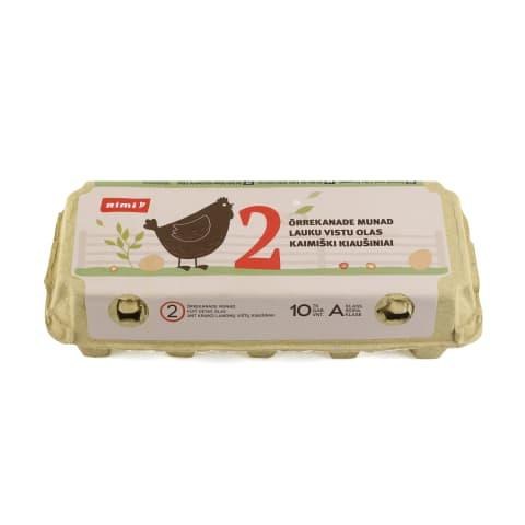 Ant kraiko laikomų vištų kiaušiniai