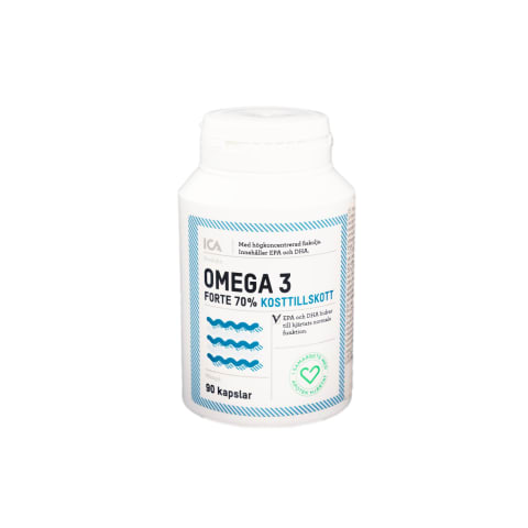 Maisto pap. Omega 3 forte 70% ICA, 90 kaps.