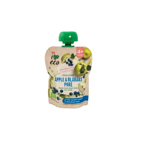 Püree I Love Eco õuna-mustika 4k 90g