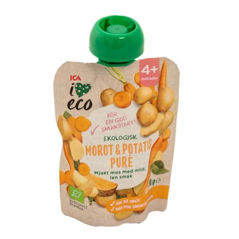 Püree I Love Eco porg,kartul,4 kuust 90g