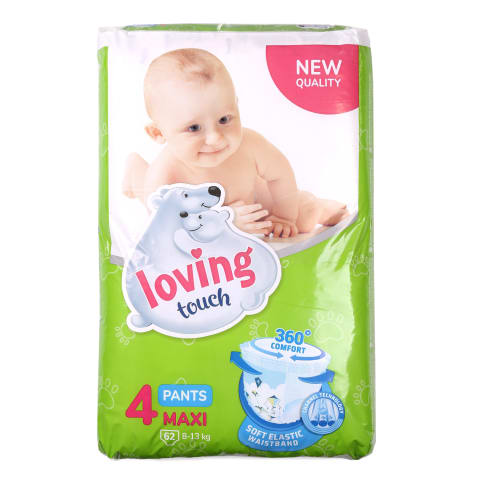 Püksmähkmed Loving Touch Maxi S4 8-13kg 62tk